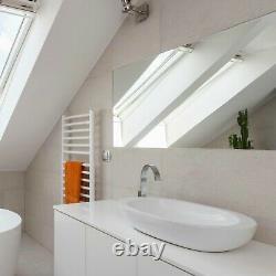 Large Frameless Glass Bathroom Vanity Mirror & Wall Hanging Fixings
