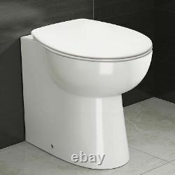Lonel Grey Bathroom Vanity Unit LH Basin WC Furniture Back To Wall Toilet 1100mm