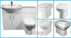 Luxury Bathroom Suite WC Set 550 Vanity Unit 500 x 300 BTW Unit Pan Options