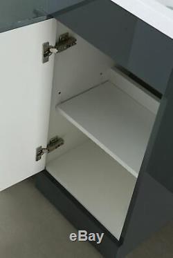 Manifold 900mm Right Hand Bathroom Grey Vanity Basin Back To Wall Toilet