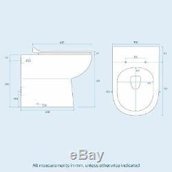 Manifold Bathroom RH White Basin Sink Vanity Unit WC Back To Wall Toilet 900mm