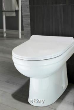 Manifold Right Bathroom Grey Vanity Furniture Basin Back To Wall Toilet
