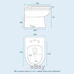Melbourne LH Bathroom P-Shape Dark Oak Basin Vanity Unit Back To Wall WC Toilet