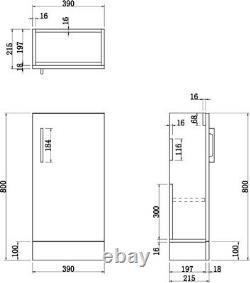 Modern Bathroom Toilet & Basin Sink Vanity Unit Furniture 900mm Gloss White