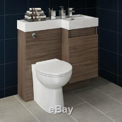 Modern Vanity Unit Bathroom Basin Sink&Toilet Back to Wall Storage Cabinet 906R
