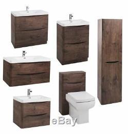 New High Quality Modern Chestnut Bathroom Units Furniture Cabinet Sink Vanity WC