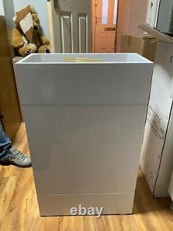 New In Box Missing Lid WC Vanity Unit Back To Wall Toilet white 56x30.5x87.5