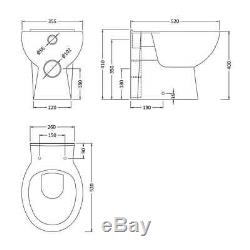 Nova 1000mm Combination Vanity Unit & WC BTW Pan & Seat Multiple Pan Options
