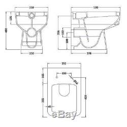 Nova 1100mm Combination Vanity Unit & WC BTW Pan & Seat Multiple Pan Options