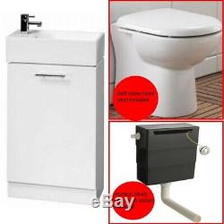 Premier Compact 360mm Back To Wall Toilet and Cloakroom Unit Suite