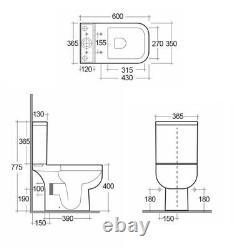 RAK Ceramics Series 600 Cloakroom Furniture and WC Set