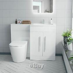 Rh Vanity Sink Unit Back To Wall Wc Rimless Toilet Bathroom Suit Aron