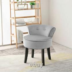 Retro Dressing Table Stool Bedroom Room Makeup Vanity Chair Velvet Backrest Seat