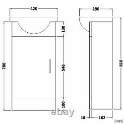 Sienna Bathroom Furniture Back To Wall WC Vanity Basin Sink Cupboard Unit White