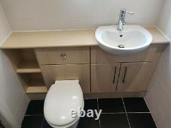 Vanity unit with toilet