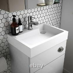 Vasari Vista Light Grey Back To Wall BTW Unit Toilet 500mm Cistern Basin Sink