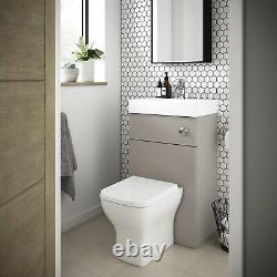Vasari Vista Stone Grey Back To Wall BTW Unit Toilet 500mm Cistern Basin Sink