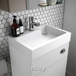 Vasari Vista White Gloss Back To Wall BTW Unit Toilet 500mm Cistern Basin Sink