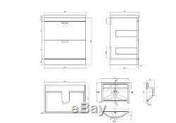 VeeBath Cyrenne Vanity Basin Cabinet Back To Wall Toilet Grey Bathroom 1200mm