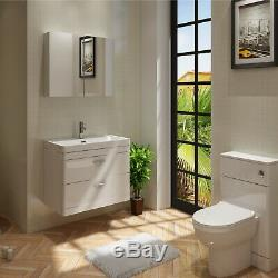 VeeBath Cyrenne Wall Hung Vanity Cabinet Back To Wall Toilet Furniture 1400mm