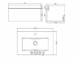 VeeBath Lapis Grey Vanity Basin Unit Back To Wall BTW Toilet Bathroom Furniture