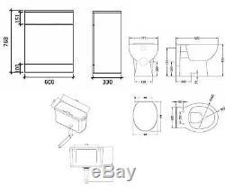 VeeBath Linx Vanity Basin Cabinet Back To Wall Toilet Unit Pan Cistern 2000mm