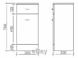 VeeBath Linx Vanity Basin Cabinet Back To Wall Toilet Unit Pan Cistern 2050mm
