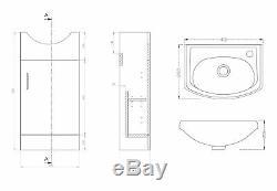 VeeBath Linx Vanity Basin Cabinet Unit & Back To Wall Toilet Bathroom Furniture