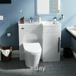 WC Unit Back To Wall Toilet Pan Vanity unit with Concealed Cistern Ellis