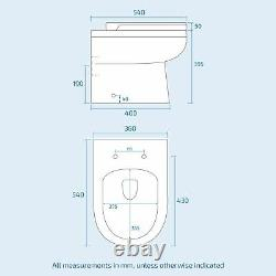 Welbourne 900 mm Bathroom White RH Basin Sink Vanity Unit WC Back To Wall Toilet