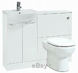 White Back To Wall Suite 1040x 250x870 Bathroom Vanity Storage FU091-P