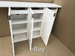 White Gloss Bathstore Myplan Vanity Cabinet Sink Basin Base Unit Sets + Worktop