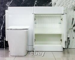 White Vanity Cabinet Unit and Back to Wall Toilet Unit Only Bathroom Ex Display