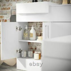 1000mm Slimline Square High Gloss Combined Vanity Unit Retour À La Toilette Murale Wc