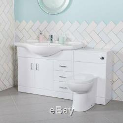 1050mm Absolute Vanity Unit & 500mm Retour À Wall Toilettes Unité Avec Toilettes Et Bassin