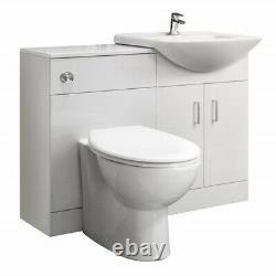 1050mm Salle De Bain Vanity Basin Sink Unit & Toilettes Multiple Pan Options