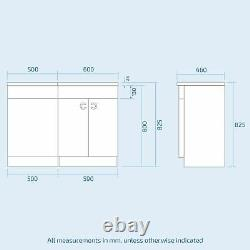 1100 MM Grey Right Handed Vanity Unit Et Back To Wall Wc Toilet