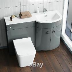 1100 MM Gris Rh Unité Vanity Et Wc Retour Au Mur Wc Bathroom Furniture Dénés