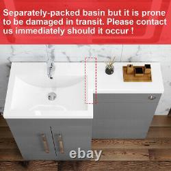 1100mm Bathroom Vanity Unit Basin Sink Cabinet Retour À Wall Toilettes Meubles