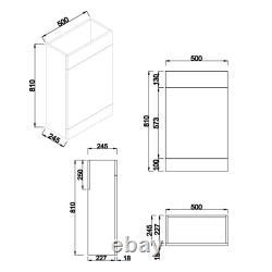 1100mm Combinaison L-forme Unité Vanity Sink Avec Cordoba Retour À Wall Toilettes