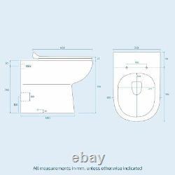 1100mm De Lavabo Gauche Meuble De Vanité Blanche Et Wc Retour Au Mur De Toilette Aron