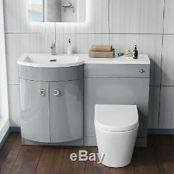 1100mm Gris Clair Vanity Unit Et Wc Retour Au Mur Toilettes Storage Suite Graham