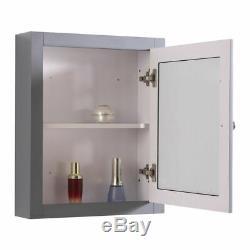 1167mm Minuit Gris Combiné Vanity Unité Retour À Wall Toilettes Pied De Sol Miroir