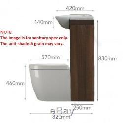 1700mm L Salle De Bains 1200mm Vanity En Noyer Et Blanc Meuble Meubles Suite