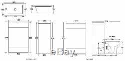 400 Salle De Bains Vanity Combinaison Unité Vestiaire Suite 500 Retour Au Mur Toilettes Robinet