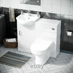 450 MM Cloakroom Basin Vanity Cabinet & Back To Wall Wc Toilet Suite Debra