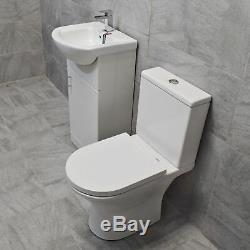 450mm Vanity Unit + Toilettes Option Vestiaire Ensemble Bassin Évier Salle De Bains Suite + Tap