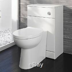 500/200 Wc Unité Vanity Salle De Bains Compact Retour À Wall Meubles Blanc Laqué