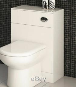 500 / 330mm Wc Unité Vanity Salle De Bain Vestiaire Retour À Wall Meubles Blanc Brillant
