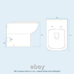 500mm En Acier Gris Vanity Cabinet Et Wc Unité Avec Retour À Mur Wc Toilette Afern